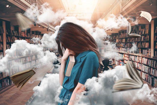lendo um livro qualquer